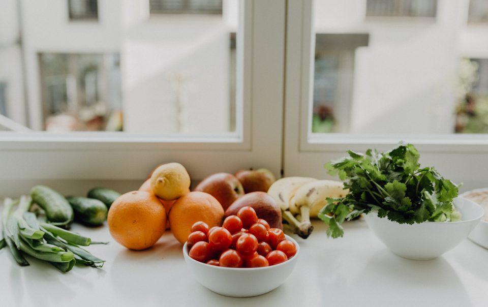 Gemüse im Fenster